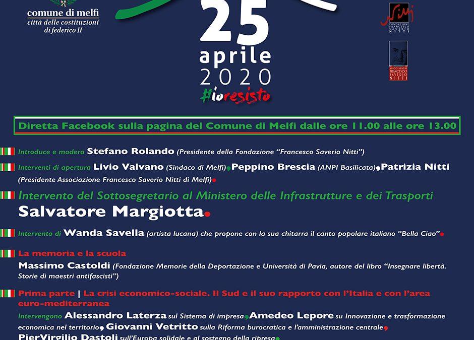 A Melfi con la Fondazione Francesco Saverio Nitti.La memoria del 25 aprile e la scuola
